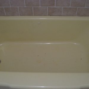 before tub refinishing